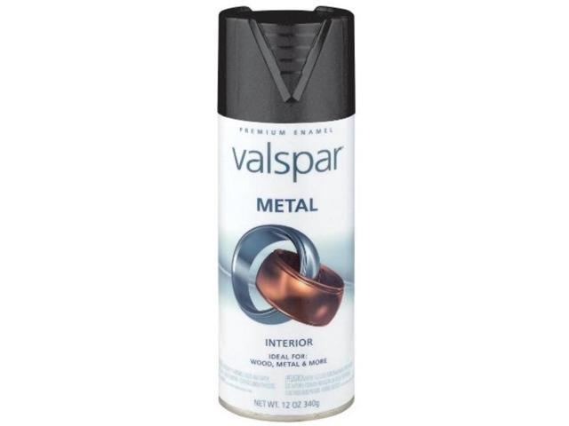 12 Oz Metallic Metal Spray Paint Black Valspar Spray Paint 66008 Black