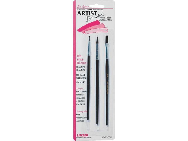 Red Sable Artist Brush Set-3/Pkg