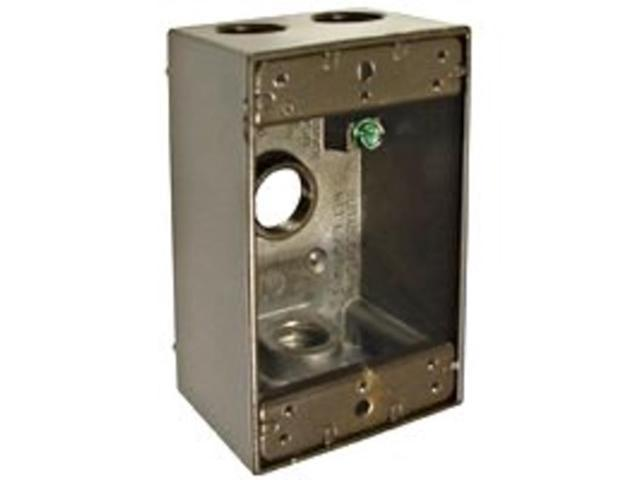 Bell Weatherproof 5321-2 Rectangle Box 1-Gang 4-1/2-Inch Outlets Bronze Single G