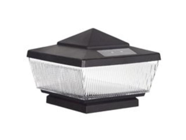 Cap Pst Solar 4 X 4 In Pst Blk Boston Harbor Outdoor Solar Lighting Black