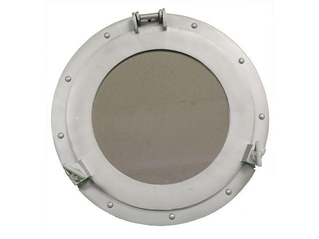 "15"" Aluminum Porthole Mirror - Nautical Ship Decor"