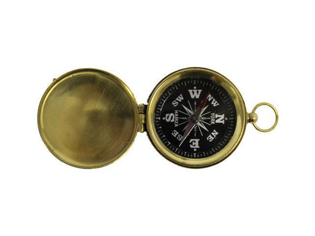 """1 3/4"""" Hiking Compass with Cover and Black Face"""
