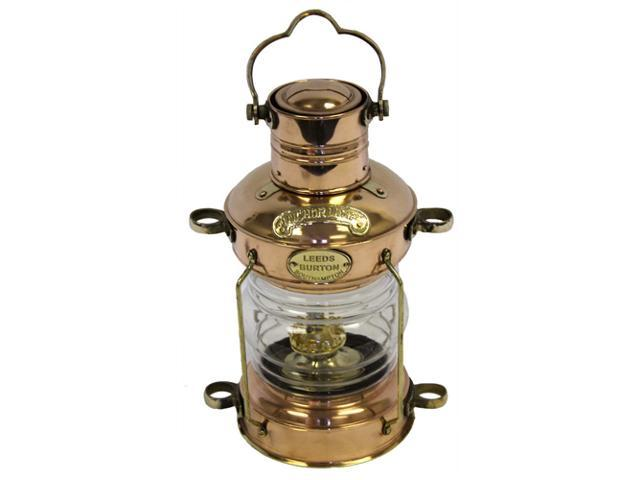 "14"" Brass Cargo Display Lamp: Round English Lantern"