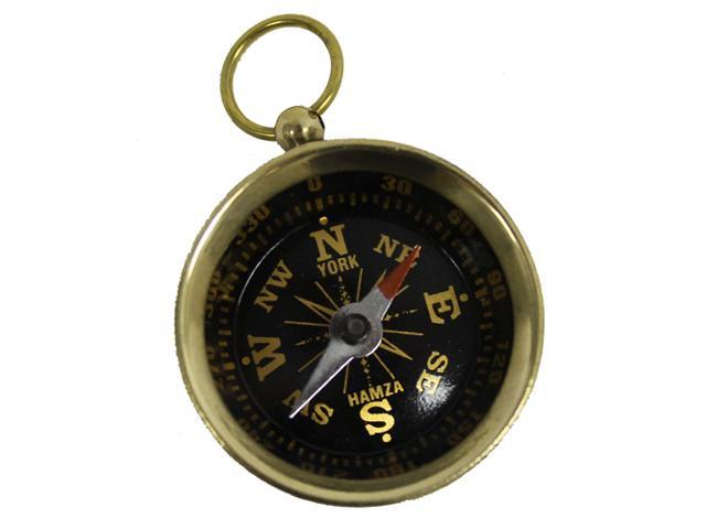 "Solid Brass 1 1/2"" Pocket Compass: Camping and Hiking"