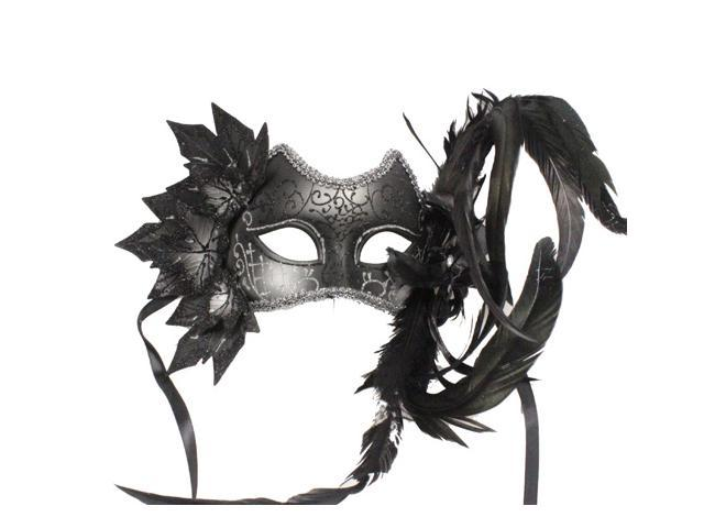 GOTHIC MASQUERADE MASK - with Feathers - FANCY COSTUME