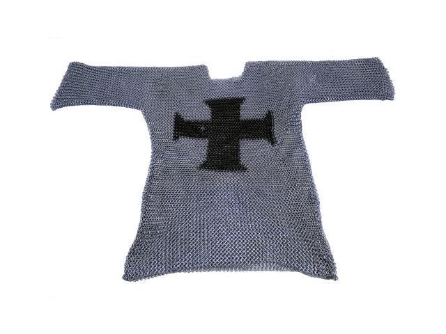 Medieval Chainmail Shirt - 3/4 Sleeve - Templar Cross Armor