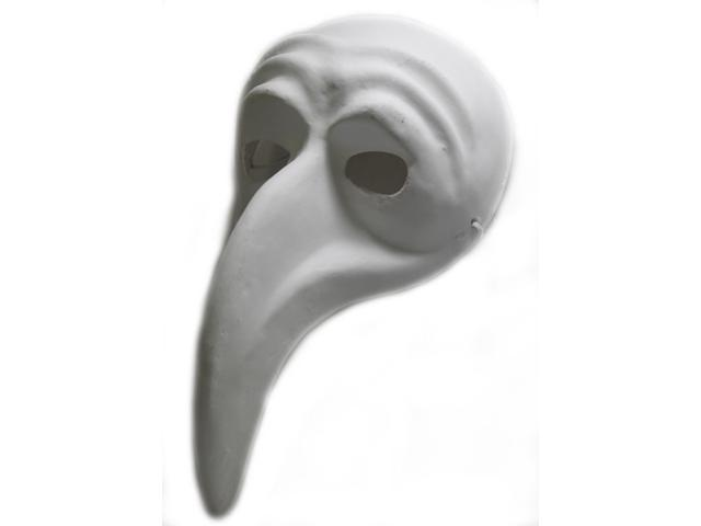 Paper Mache Plague Doctor Mask - Plain White - Arts and Crafts