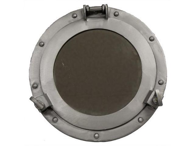 "11"" Aluminum Porthole Mirror - Nautical Ship Decor"