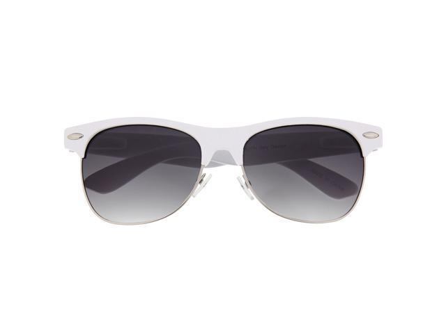 White Half Frame Glasses : Color Full Browline Sunglasses Wayfarer Clubmaster Glasses ...