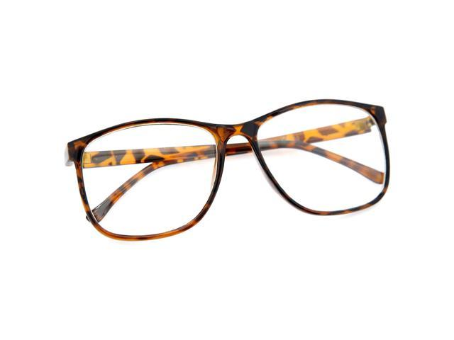 Large Frame Wayfarer Glasses : Large Oversized Wayfarer Style Clear Lens Sunglasses ...