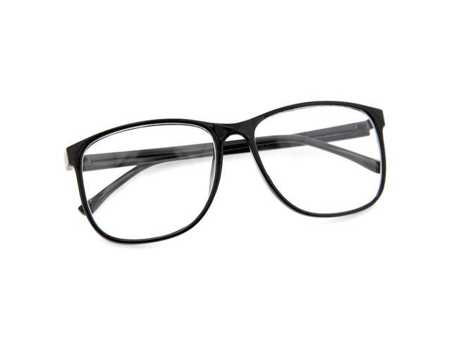 Large Thin Frame Glasses Matte Black : Large Oversized Wayfarer Style Clear Lens Sunglasses ...