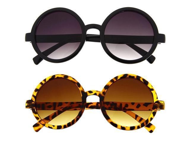 Retro Round Sunglasses Women Brand Designer English