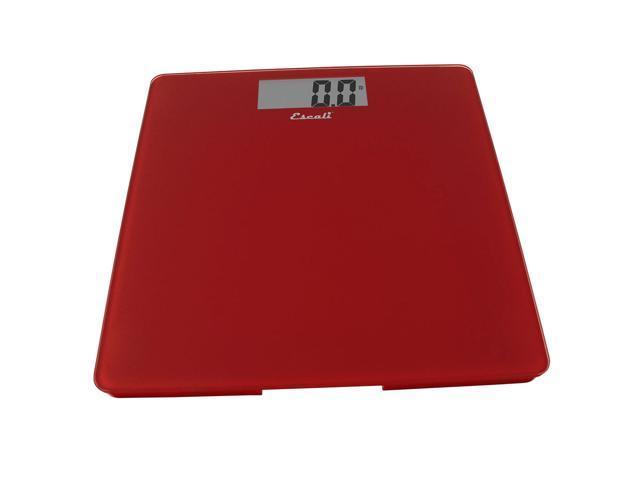 Escali Rio Red Tempered Glass Platform Bathroom Scale, 440 Pound