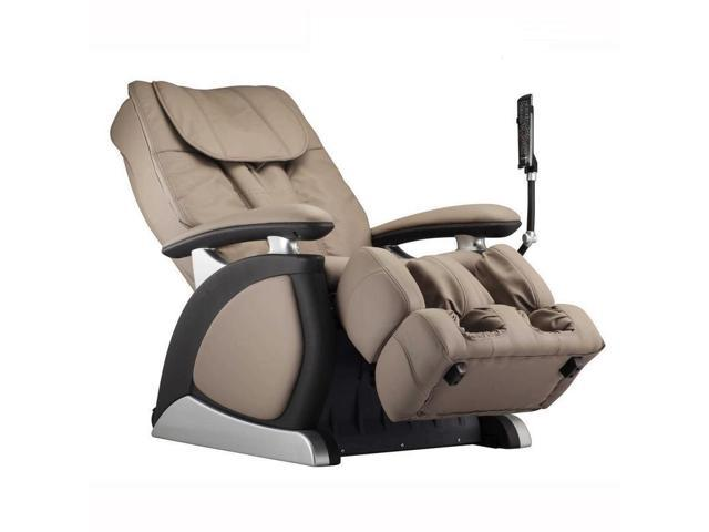 Turnda taupe bonded leather power recliner with shiatsu for E motion therapy massage recliners