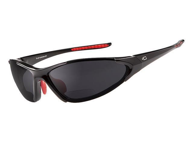 dual power eyewear s5 black frame smoke lens 1 5 reading
