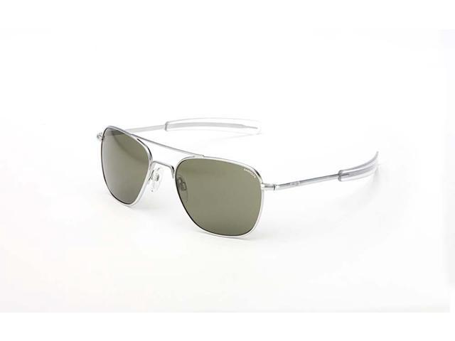 Randolph Engineering Aviator Bayonet 55mm Matte Chrome Gray Polarized Sunglasses