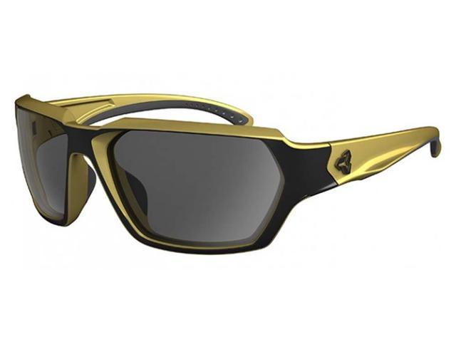 Ryders Eyewear Face Matte Black w/Gold Frame Polarized ...