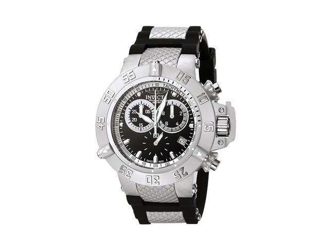 Men's Subaqua Chrono Black Polyurethane and Dial