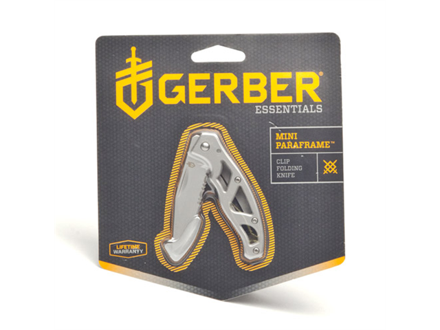 Gerber Paraframe Mini Knife Stainless Serrated CP 22-48484