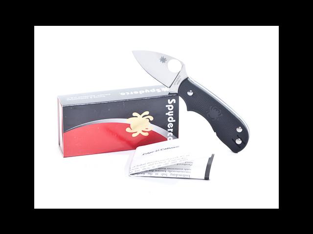 Spyderco SSC154PBK Knives Folder Knife FRN Handle Squeak Non Locking Folder 3 1/