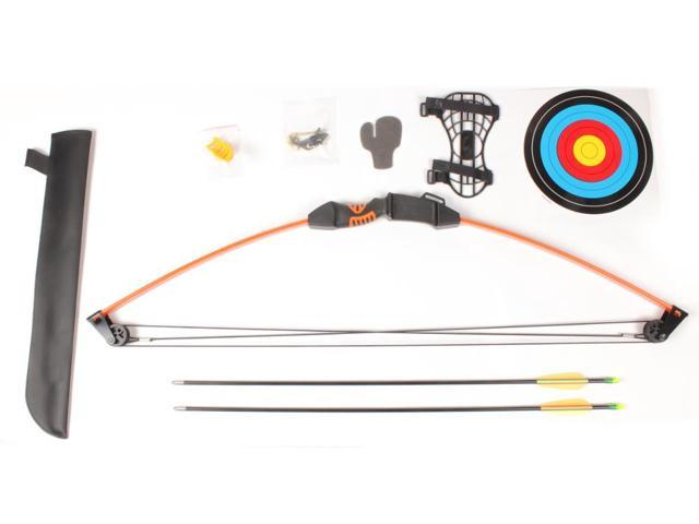 Crosman Upland AYC1024 Compound Bow w/2 Arrows, Arm Guard, Quiver & Finger Guard