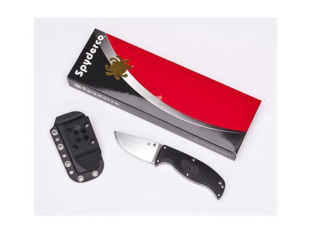 Spyderco Enuff Black FRN Clip Point PlainEdge Knife FB31CPBK