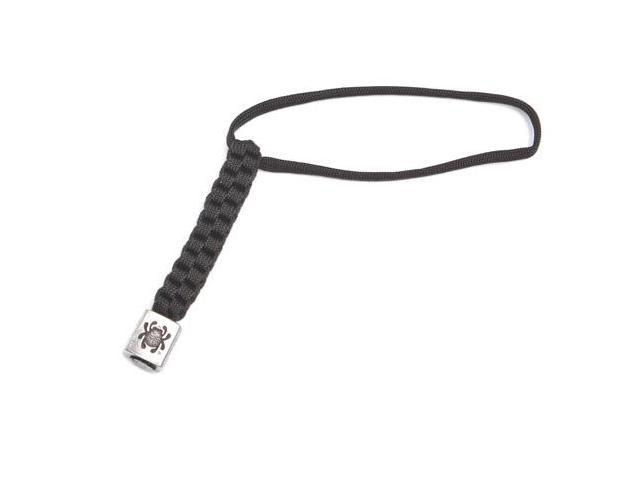 Spyderco SCSCBEAD1LY Pewter Bead/Lanyard Braided Black Cord Lanyard W/ Attached