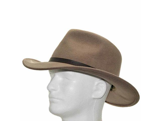 New OUTBACK CAPRY  Putty CRUSHABLE Wool Hat Mens 7 1/8