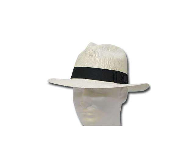 AUTHENTIC CLASSIC FEDORA PANAMA HAT WHITE STRAW 6 7/8