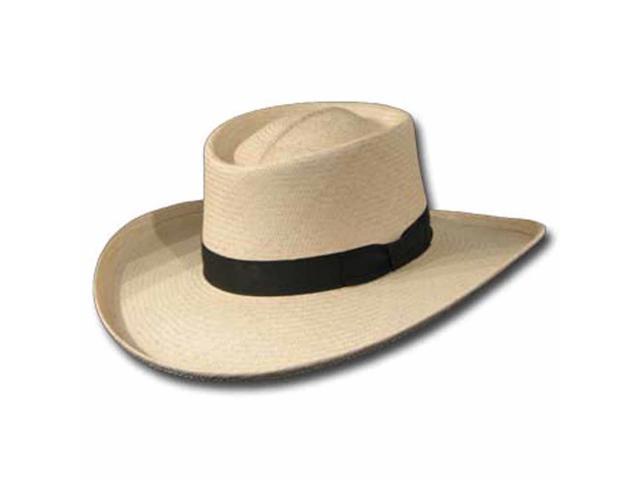 VENICIA GAMBLER  Panama Straw Hat ULTRA WIDE BRIM 7 1/8