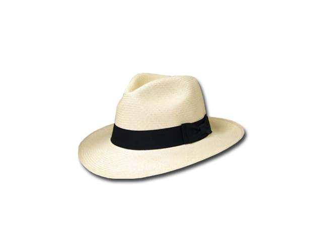 GATSBY FEDORA Panama Hat NATURAL STRAW Stylish SZ 7 1/4