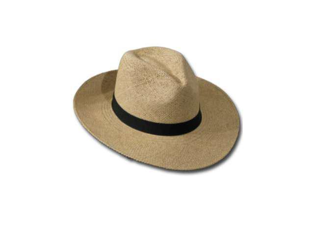 FEDORA PACKABLE FOLDABLE  Panama Straw Hat CLASSIC 6 7/8