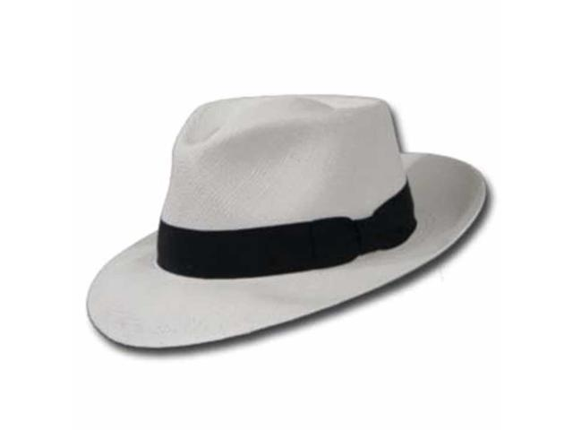 PORTOFINO RETRO Panama White Straw Hat CROWN C