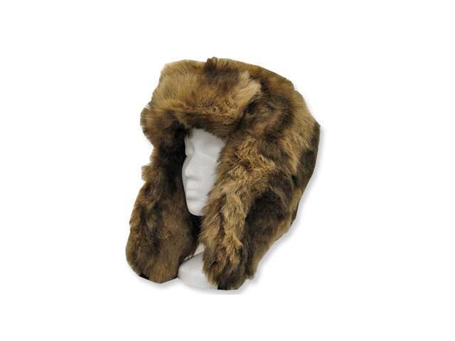 EXPLORER USHANKA TRAPPER Trooper Pilot Russian AVIATOR Soft Faux Fur Hat Men and Women 7 5/8
