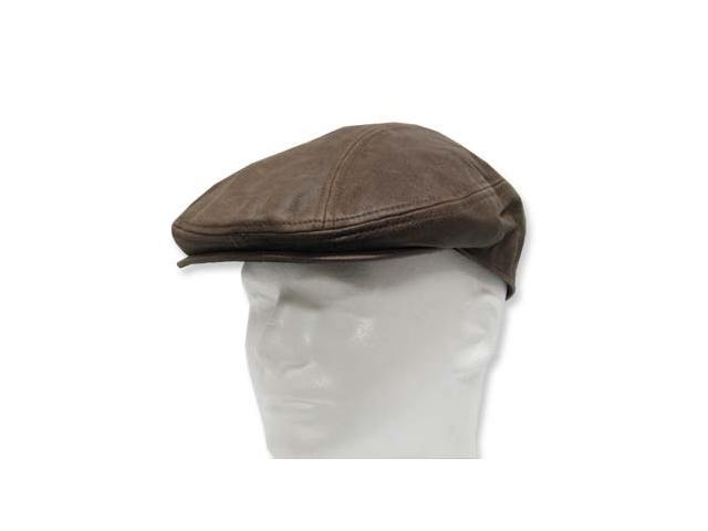 GATSBY DRIVING Scally Flat Soft Leather Ivy Cap Hat without a lining  7-5/8