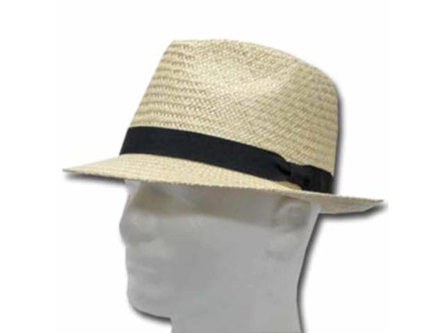 FELLINI HAVANA STINGY BRIM Panama Straw Hat DRESS 7 3/8