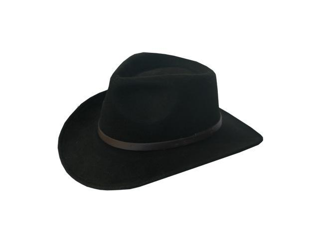 AUSTRALIAN OUTBACK Crushable Outback Wool Felt Hat Fedora Fashion Men and Women 7 7/8