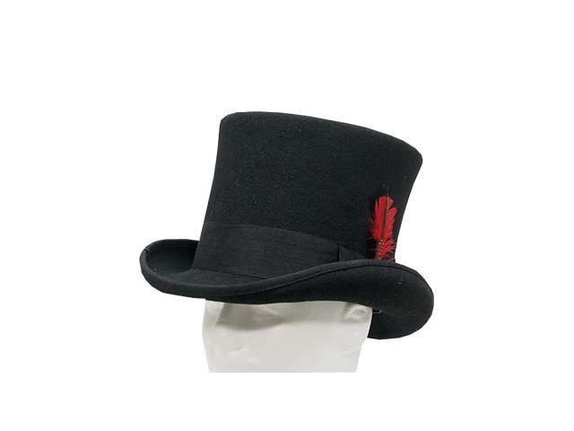 SEBASTIAN VICTORIAN Mad Hatter Tall Top Hat Wool Felt Classic 7