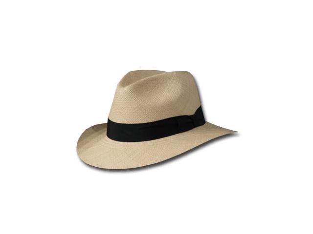 New FEDORA SAFARI Panama Hat NATURAL STRAW Size 7 1/8