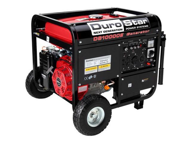 DuroStar DS10000E 10,000-Watt 16.0Hp Portable Gas Generator with Electric Start and Wheel Kit