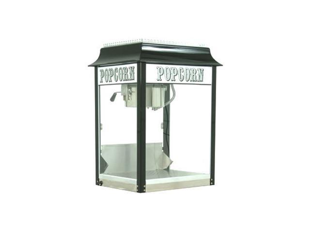 Paragon 1911 8 Oz. Popcorn Machine Black/Chrome Theater Style Concession 1108820