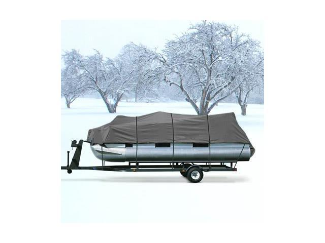 Heavy Duty Highly Durable Pontoon Boat Cover Gray Fits 20'-24' Beam 102