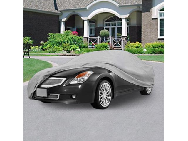All Weather Durable Auto Car Cover Gray 210