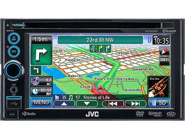 JVC KW-NT30HD Navigation Mobile Video Receiver Built-In Bluetooth