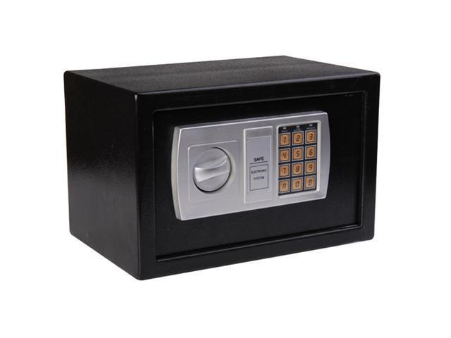 "HomCom 12"" x 8"" x 8"" Steel Electronic Digital Safe Box - Black"