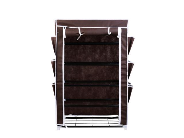 "HomCom 24"" Portable Shoe Storage Rack / Closet - Brown"