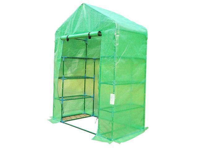 Outsunny 6.5' x 4.67' x 2.5' Outdoor Compact Walk-in Greenhouse
