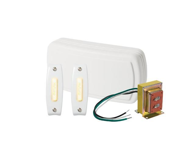 Nutone BK125LWH Door Chime 2 lighted pushbutton 1 standard transformer