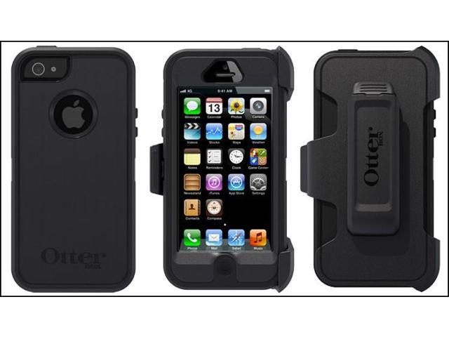 Otterbox Defender Series Rugged Protection All Black Case For Iphone 5c
