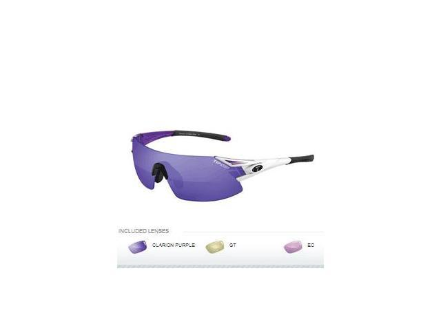Tifosi Podium XC Golf Interchangeable Sunglasses - Clarion Mirror Collection - Crystal Purple